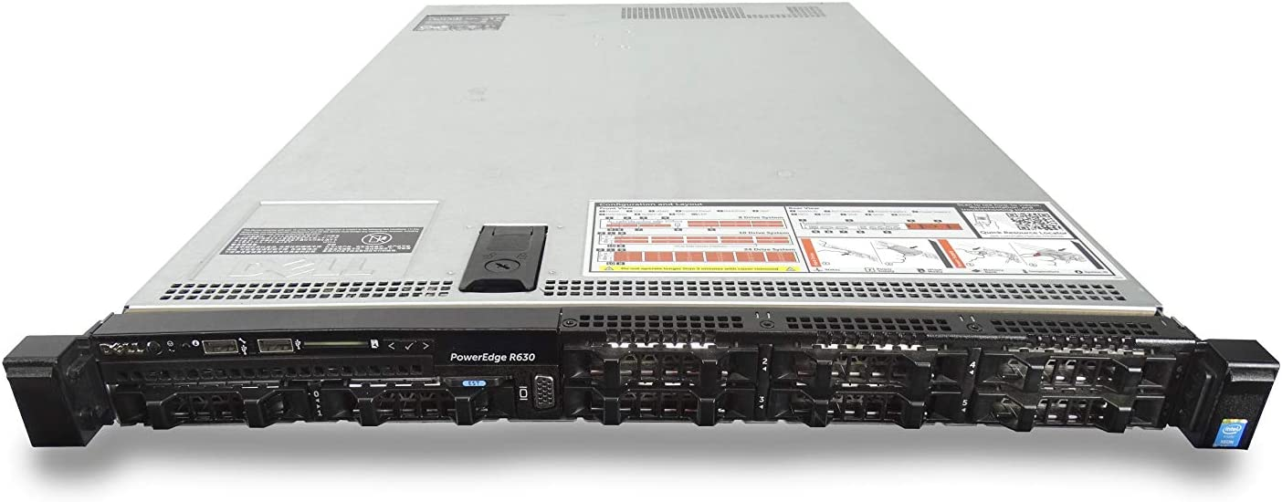 Dell PowerEdge R630 8 Bay SFF 1U Server, 2X Intel Xeon E5-2667 V4 3.2GHz 8C, 48GB DDR4, 8X 500GB 7.2K SAS 2.5 Drives, PERC H730, iDRAC 8 Express, 2X 750W PSUs, No Rails (Renewed)