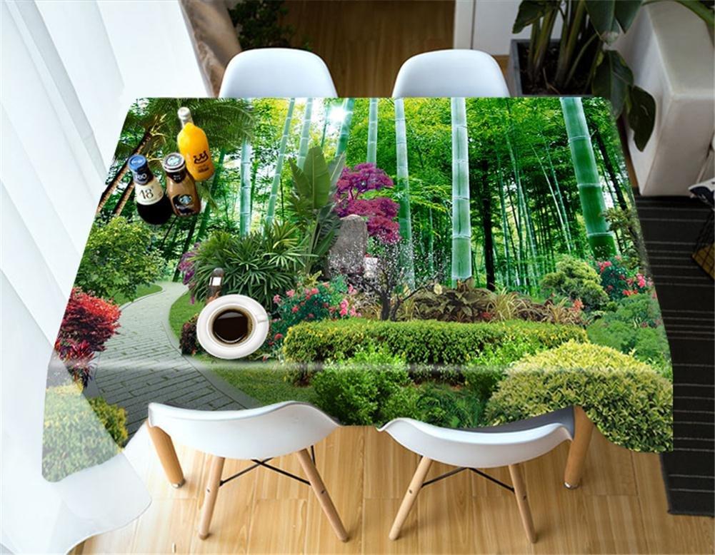 tienda de descuento 1 o Mantel 3D Bosque verde Telas estampadas A prueba prueba prueba de polvo Cubierta súperior de la mesa Decoración de la cocina , 1 , o  marcas de moda