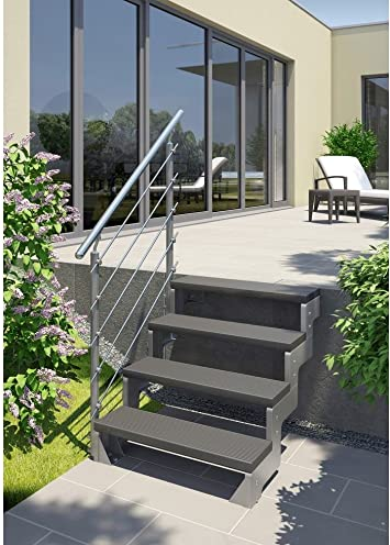 DOLLE Escaleras de exterior para jardín, set de 2 peldaños: Amazon.es: Bricolaje y herramientas