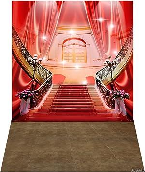 Andoer Palacio Lujoso Fondo de Fotografía Rojo Escalera de La Alfombra Boda Fondo Photo Studio Pros 1.5 * 2.1 m/5 * 7 Pies: Amazon.es: Electrónica