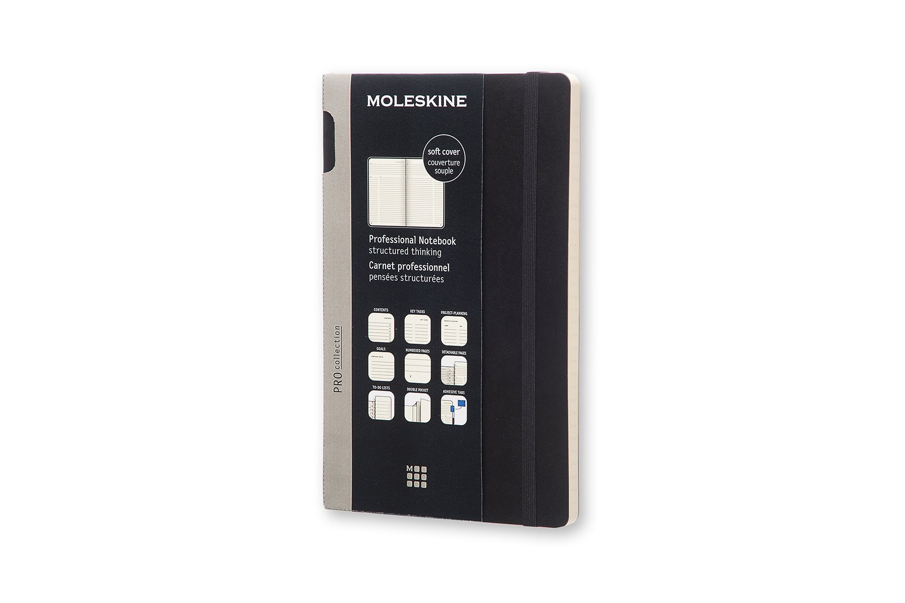 Moleskine Pro Soft Cover Notebook, Professional, Large (5 x.