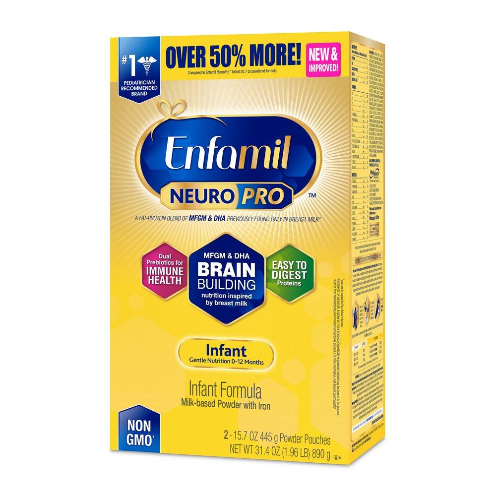 Enfamil NeuroPro Infant Formula - Brain Building Nutrition Inspired by Breast Milk - Powder Refill Box, 31.4 oz Mead Johnson & Company