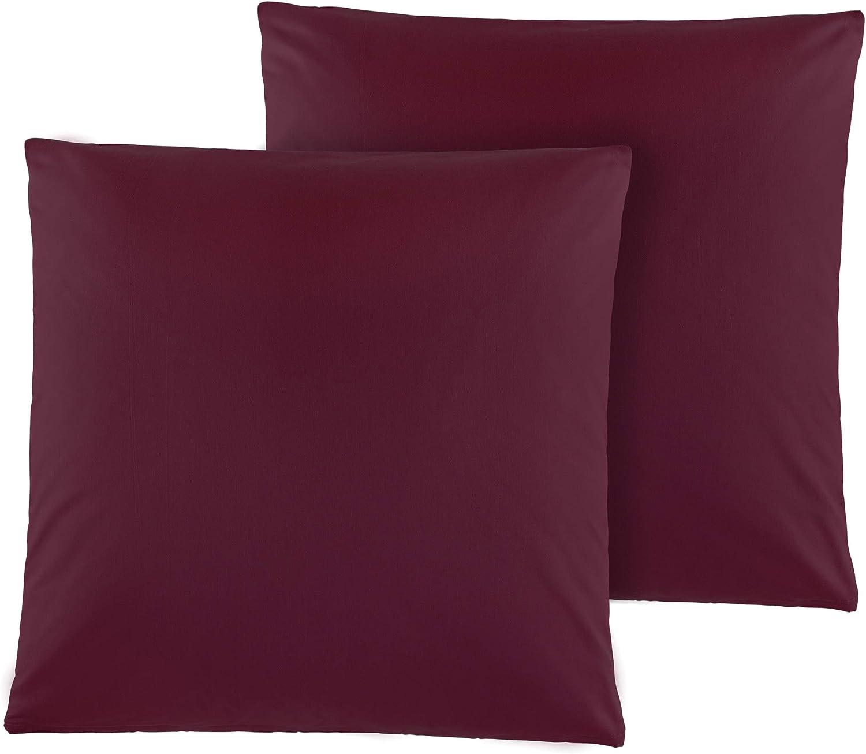 Kissenbez/üge Kissenh/üllen 80x80 cm in vielen modernen Farben Petrol Doppelpack Baumwolle Renforc/é Kissenbezug