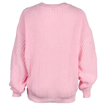 My1stwish Womens Oversized Ladies Knitted Baggy Chunky Jumper Sweater Top  at Amazon Women s Clothing store  9decd6fc6