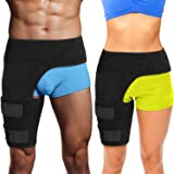 Hip Stabilizer and Groin Brace - Most Comfortable Thigh Support. Adjustable Leg Compression Wrap Sleeve. Faster Pain Relief for Hip Replacement Rehab, Sciatica Nerve Hernias Hamstring Strain Injury
