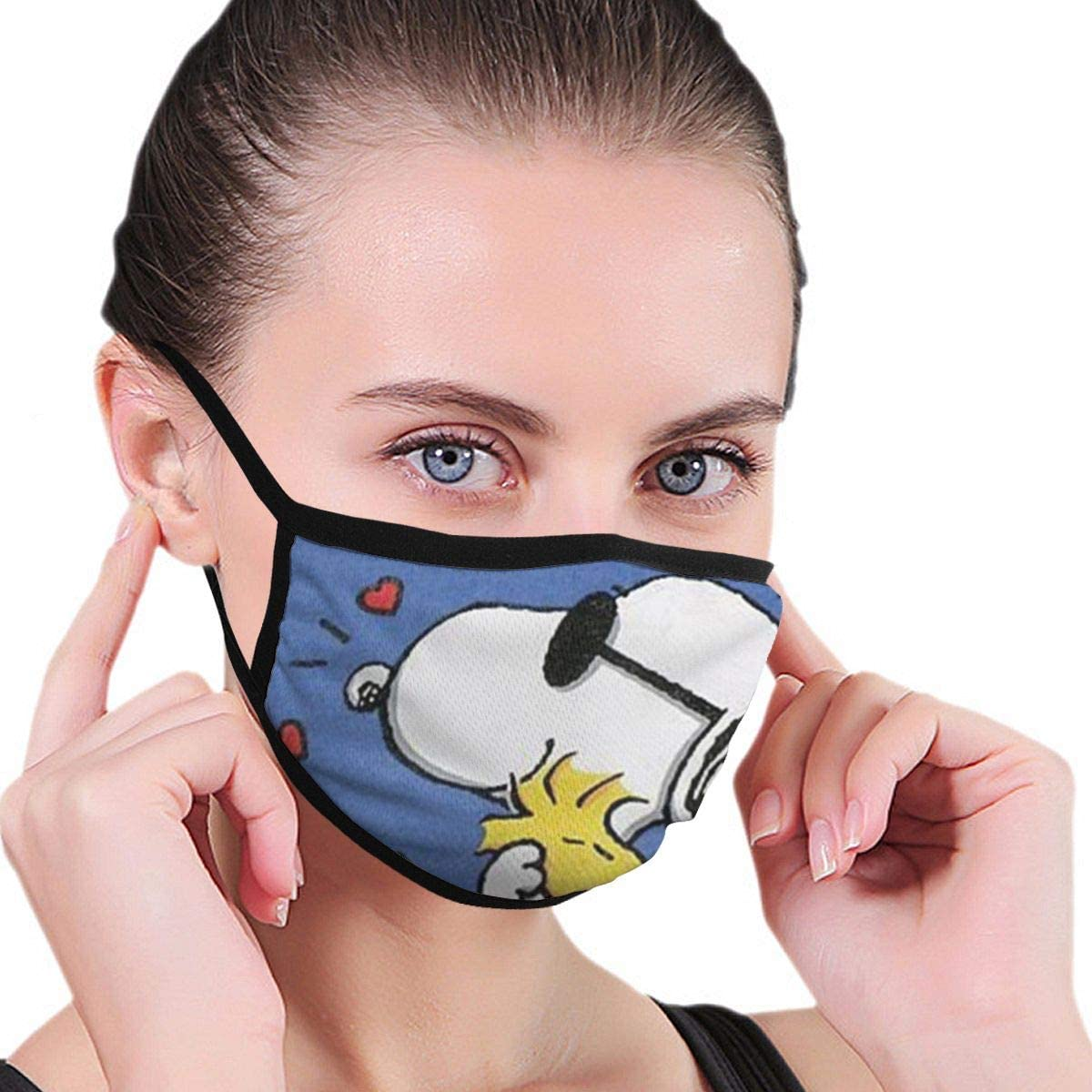 Lxjjj Fashion Snoopy Love Hug Dustproof Washable Reusable Mouth Cover Germ Protective Safety Mouth Guard Anti Dust Half Face Guard Unisex