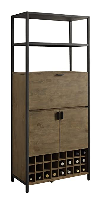 wine storage cabinet inserts cabinets australia kitchen pantry two open shelves rustic wood diy