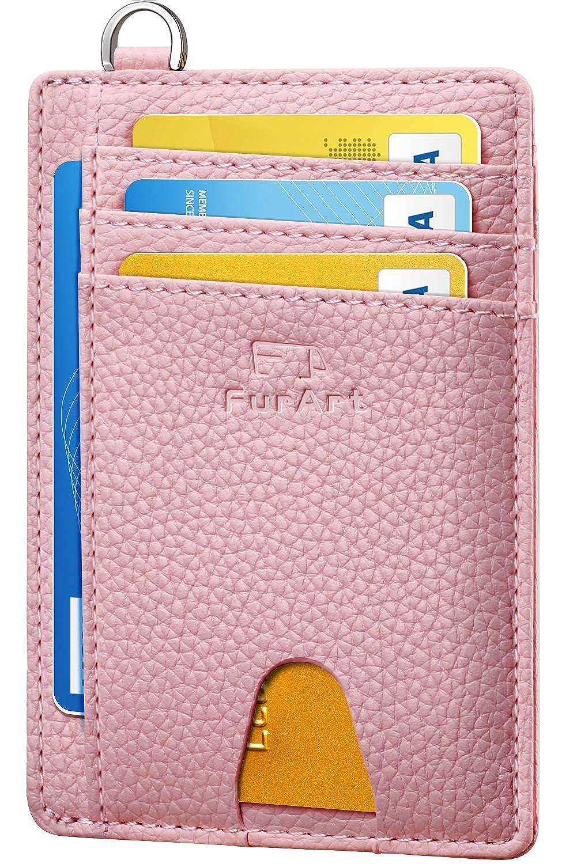 FurArt Slim Minimalist Wallet  Front Pocket Wallets  RFID Blocking  Credit Card Holder with Disassembly D-Shackle