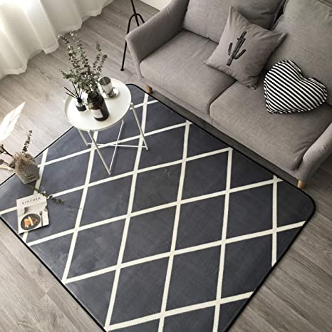Amazon.com: Geometric Carpets for Home Living Room Soft Modern ...