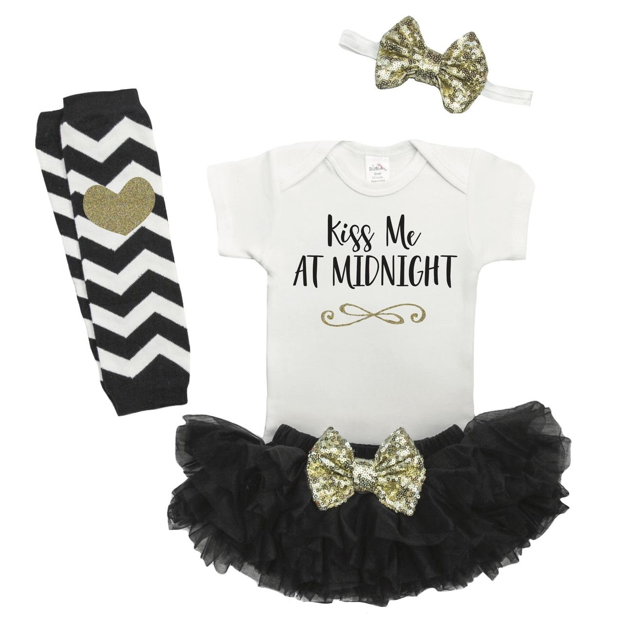 a5f0bc3dd86e Amazon.com  Bump and Beyond Designs Girl First New Years Outfit ...