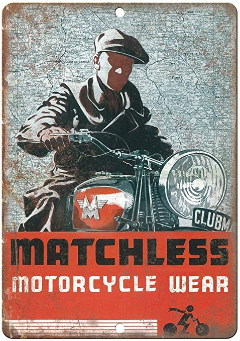 Shunry Matchless Motorcycle Wear Placa Cartel Vintage Estaño ...