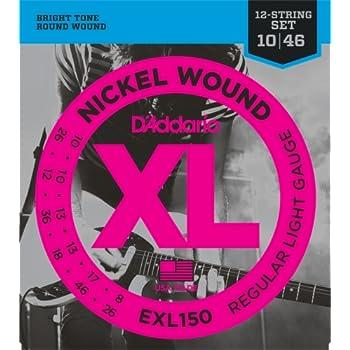 D'Addario EXL150 Regular Light 12-String Electric Guitar Strings
