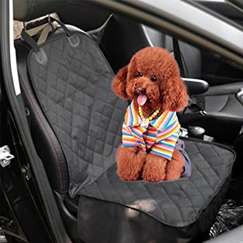 AllRight Waterproof Pet Car Seat Safety Front Pet Car Seat Belt Travel Carrier Booster Folding Seat Protector Bag Red