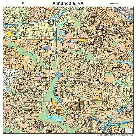 Amazon.com: Large Street & Road Map of Annandale, Virginia VA ...