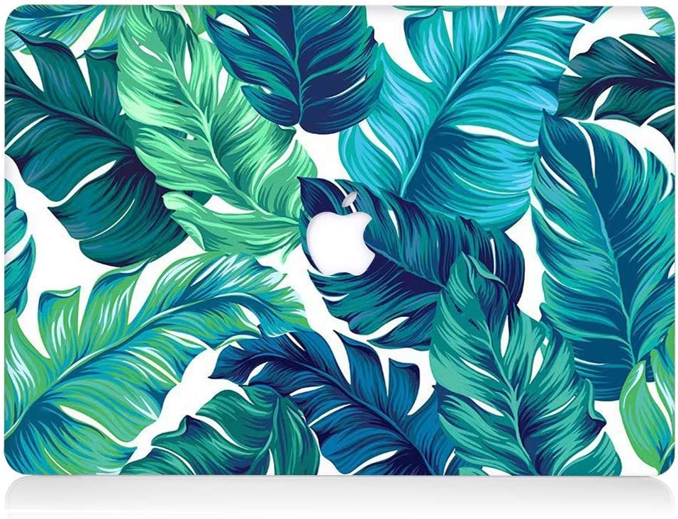 L2W Hard Case Compatible with MacBook Air 13.3 Inch Model A1466/A1369 Plastic Laptop Computers Accessories Cover Protective Matte Translucent Palm Leaf Design Shell