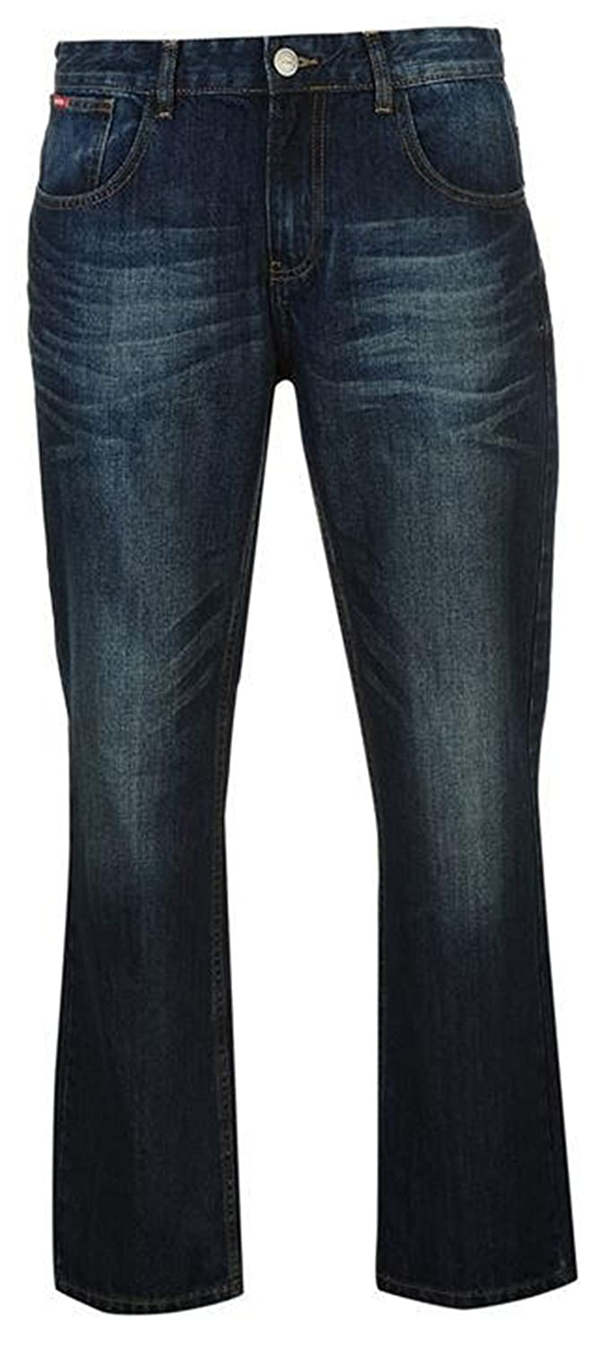 80f54f9b Lee Cooper Mens Casual Bootcut Jeans Cotton Trousers (32WR, Dark Indigo):  Amazon.co.uk: Clothing