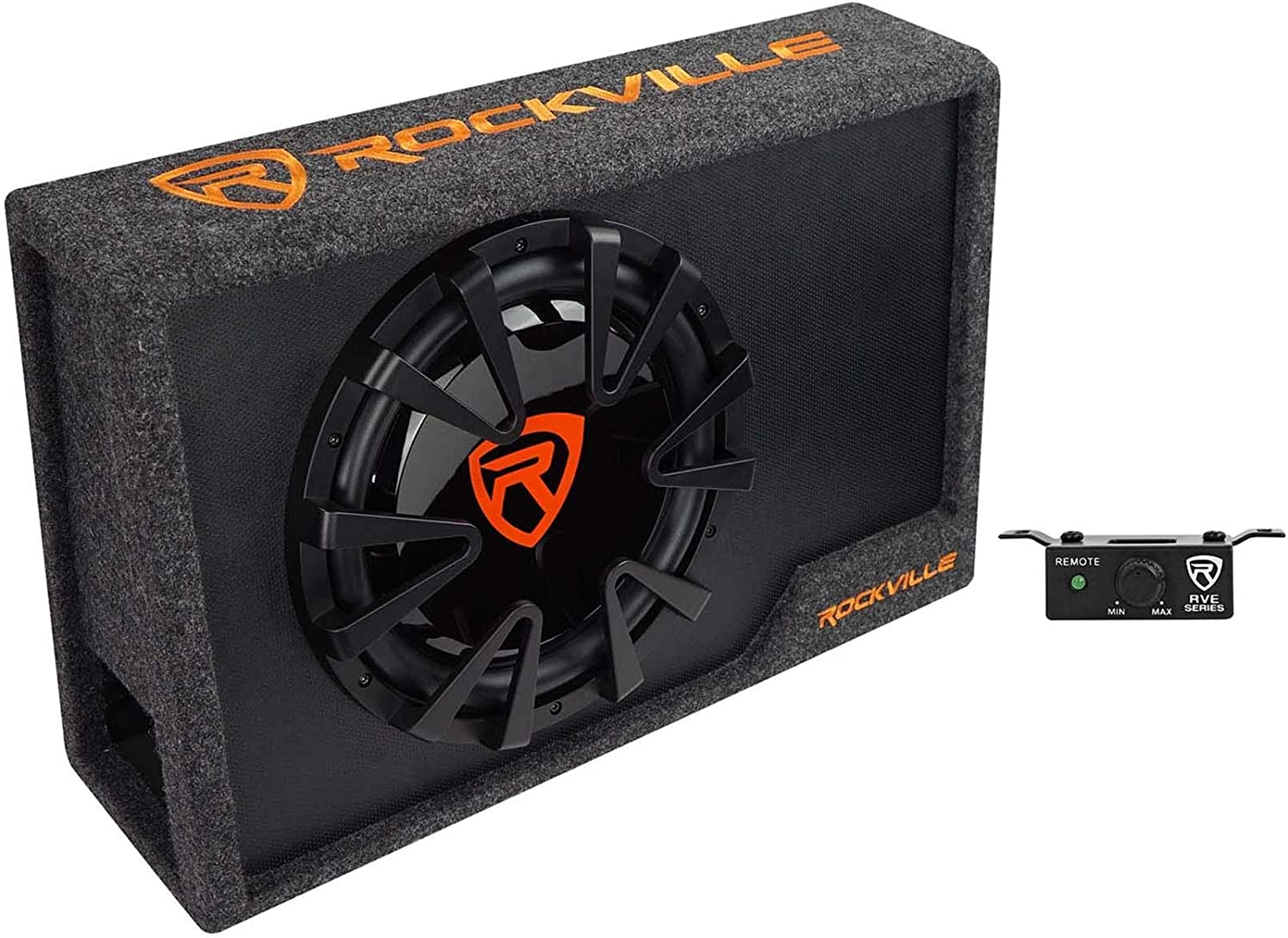 Rockville 12 UnderSeat Active Vented Subwoofer for 2015-up Chevy Silverado Crew
