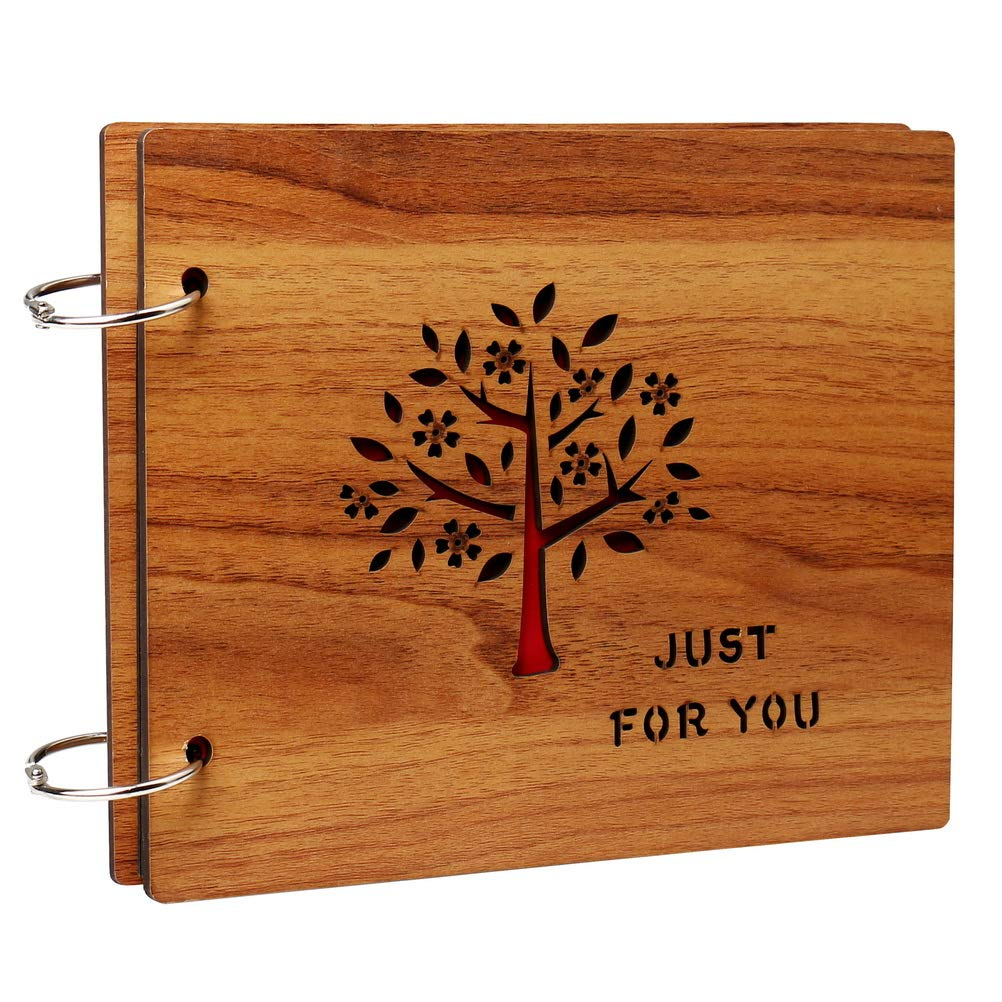 Ofoen, DIY Hand stick tipo memoria foto di viaggio record album per legno Burlywood