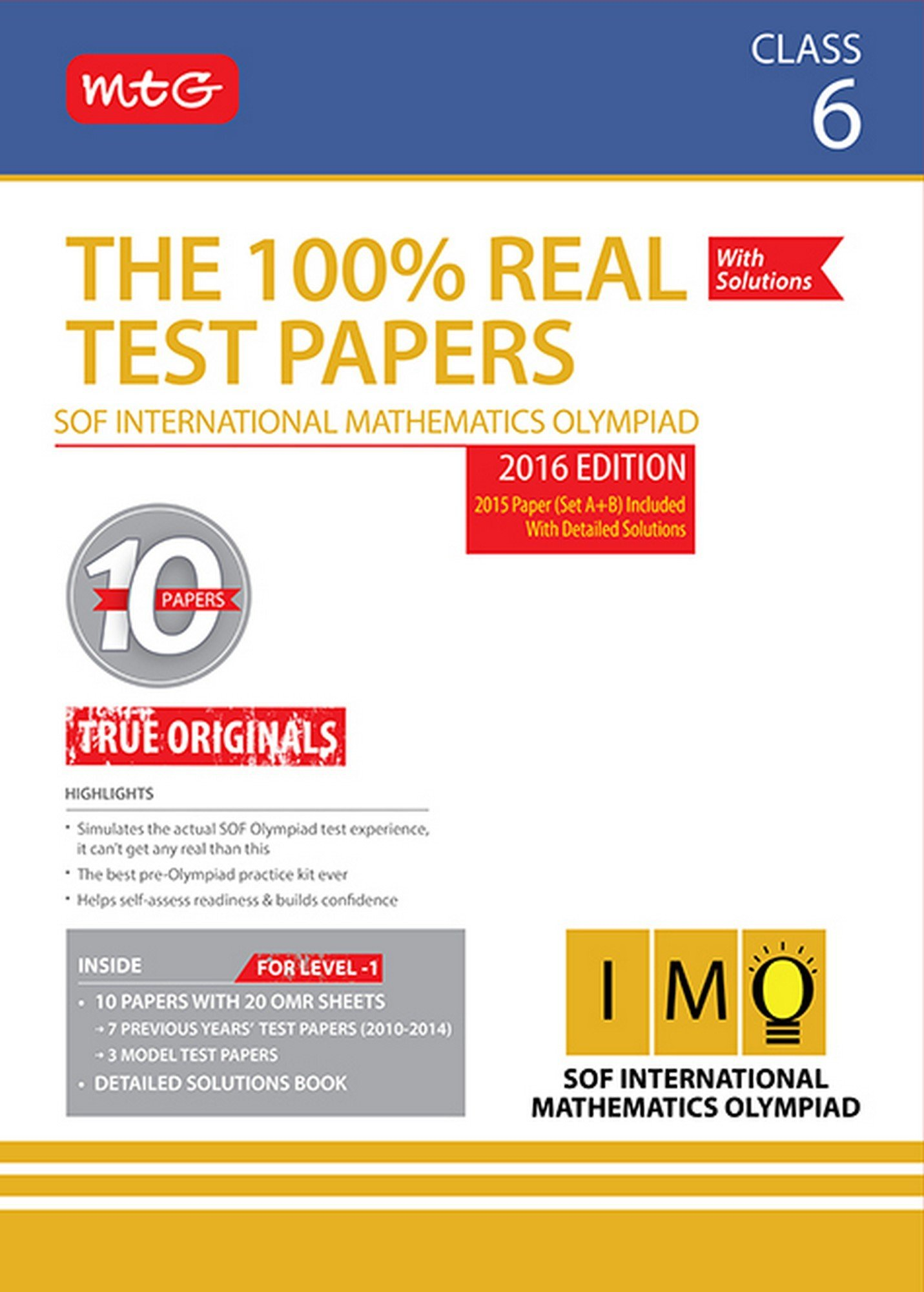 Buy 100% Real Test Papers (IMO) - Class 6 Book Online at Low