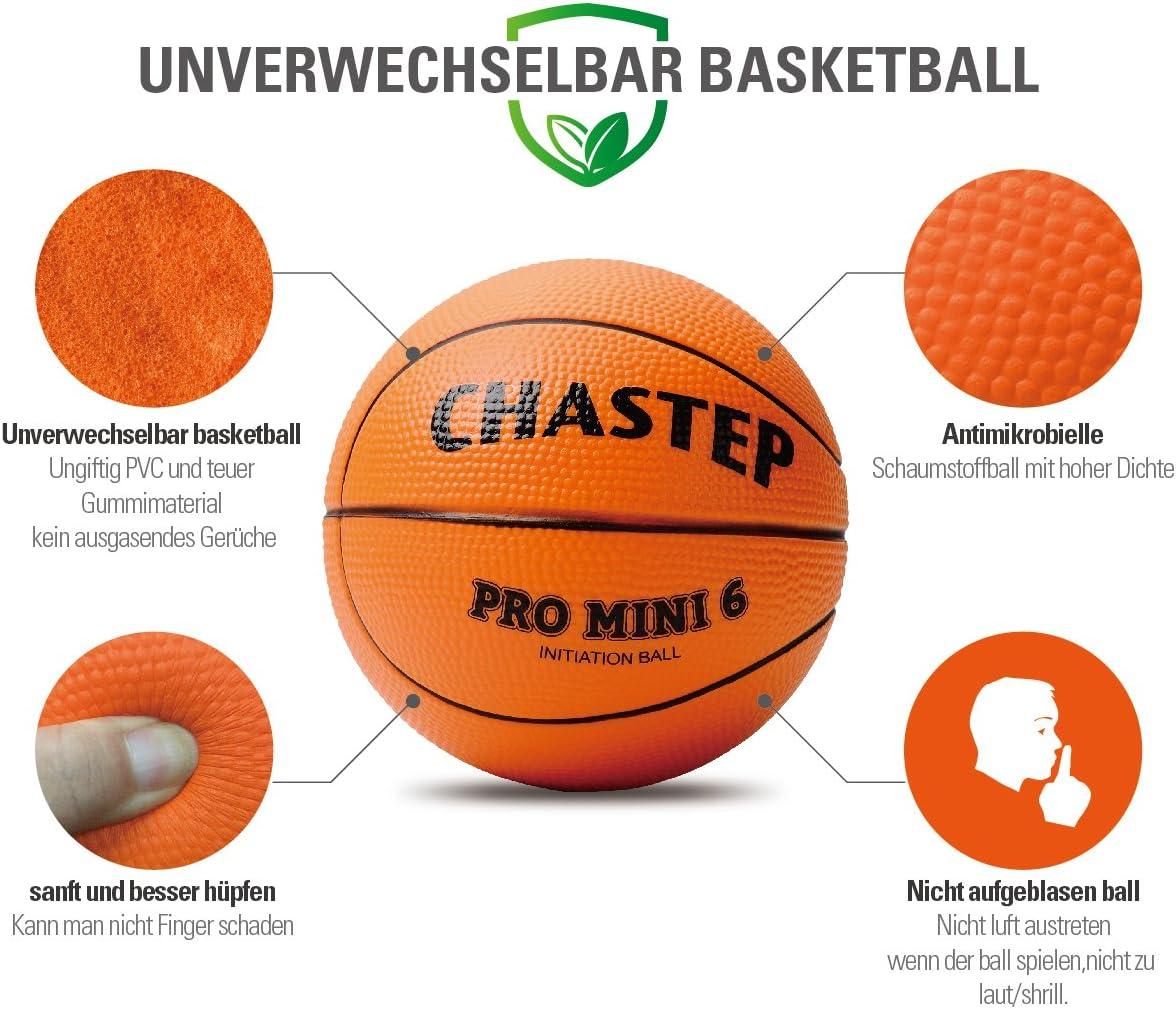 Vigoureux Mini-Basket Chastep 6 Pouces Balle en Mousse Doux et Plein dentrain Non-Toxique S/ûr de Jouer pour Les Enfants