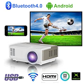 LED portátil LCD LCD Proyector inalámbrico 1500 lúmenes Mini Smart Android Android Proyector HDMI USB VGA