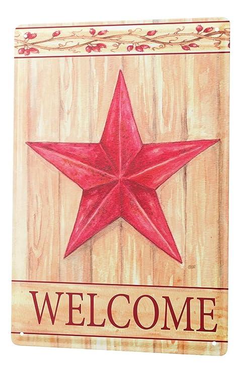 LEotiE SINCE 2004 Cartel Letrero de Chapa XXL Retro Red Star ...