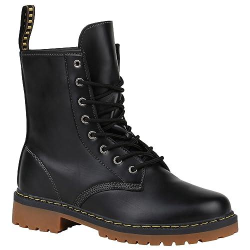 big sale 73e54 e8005 Stiefelparadies Unisex Damen Herren Stiefeletten Worker Boots Übergrößen  Flandell