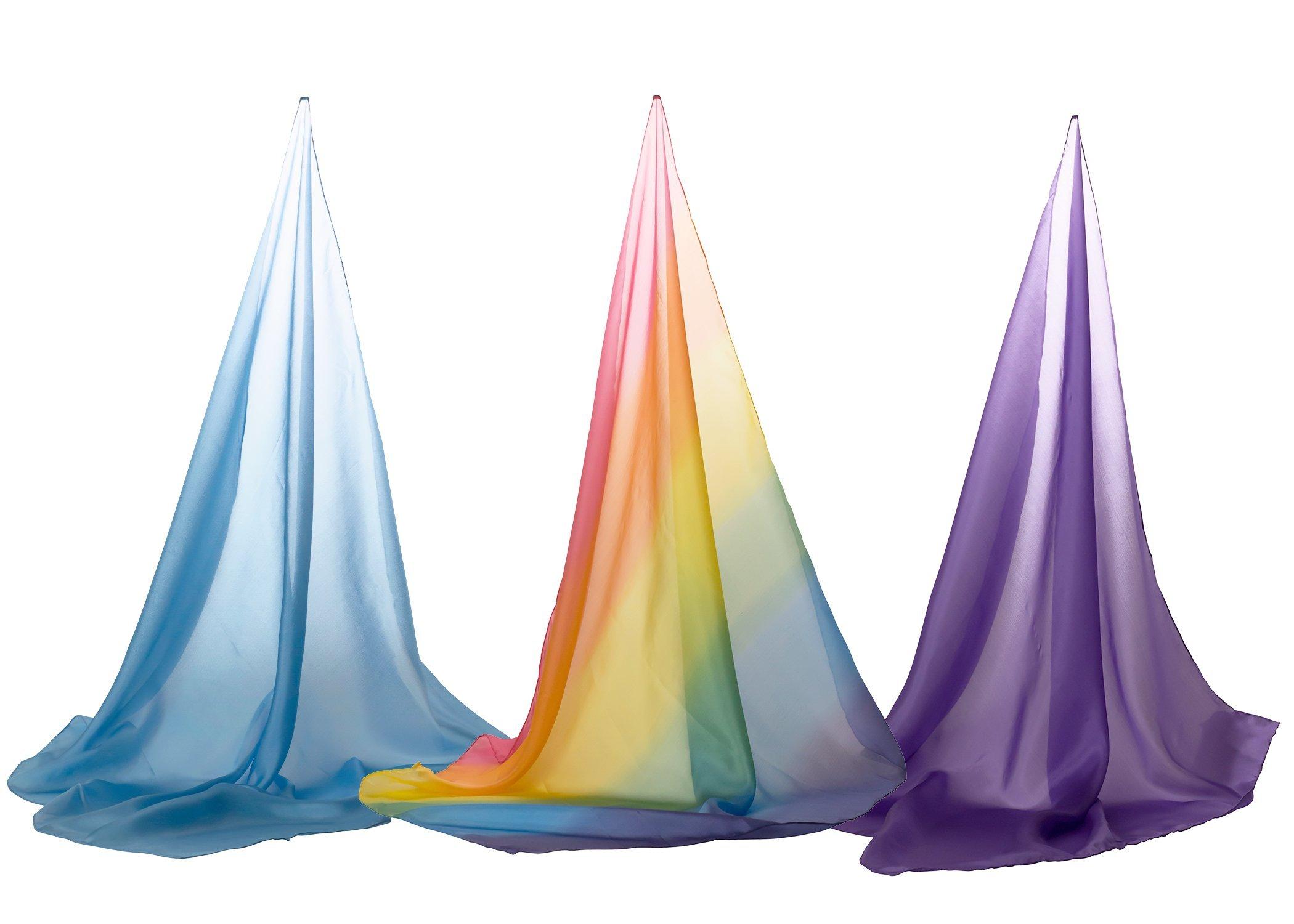 Sarah's Silks Set of 3 Playsilks Rainbow Sky