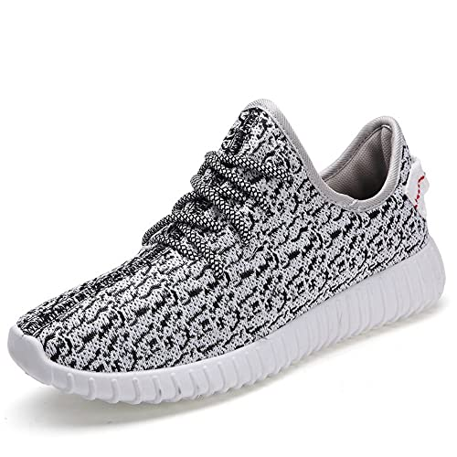 Fashionable Lightweight Walking Shoes Mens Comfy Knit Stretchy Fabric Breathable Sneakers Woman Casu...