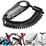 Allnice ET-152 Mini Portable Anti-Theft Resettable 3 Digit Bike Bicycle Cycling Spring Combination Cable Lock Senior…