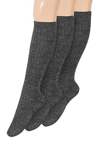 Calcetines hasta la rodilla para hombre calcetines de lana calcetines hasta la rodilla calcetines cálidos calcetines hasta la rodilla con suela de felpa ...