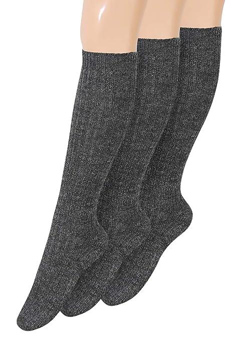 kniestrümpfe Lana Calcetines Altos para Hombre Calcetines de esquí Calcetines Calientes de Calcetines con Suela de