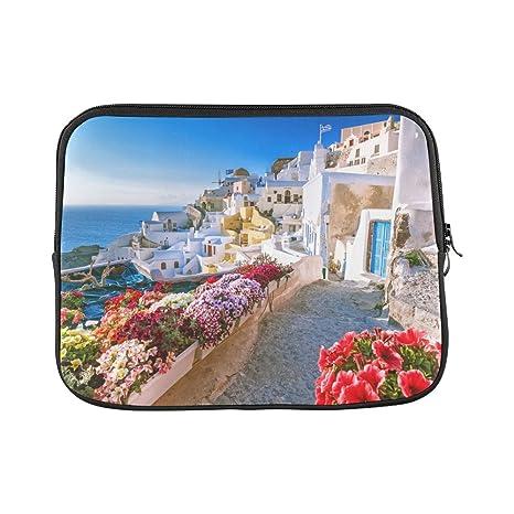 deeec4f408fe Amazon.com: InterestPrint Beautiful Sunset City View of Santorini ...