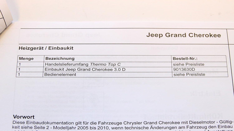 Jeep Grand Cherokee Webasto Einbaukit Fr Thermo Top C Standheizung Wiring Diagram 9013630d Neu Auto
