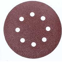 100pieza–Disco de lija (Diámetro: 125mm, grano 120–8orificios