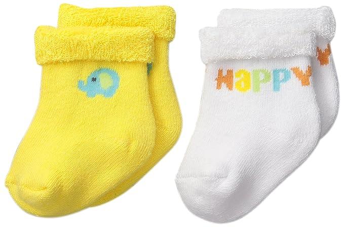 Amazon Com Gerber Unisex Baby Terry Socks Elephant 0 6 Months