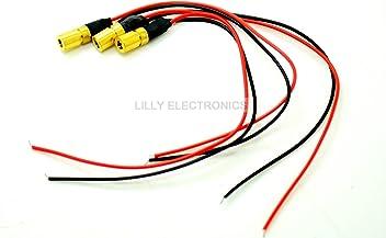 3pcs//lot Mini Type Orange Red Diode Lasers 635nm 3mw Laser Dot Module 6x10mm w// Cable