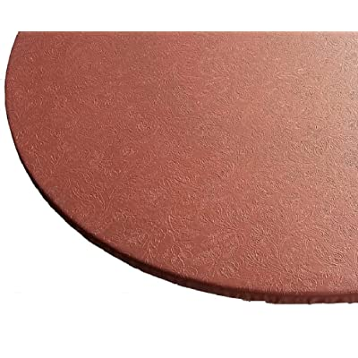 Econotex Round Elastic Edge Table Cover Floral Pattern Classic Copper : Garden & Outdoor