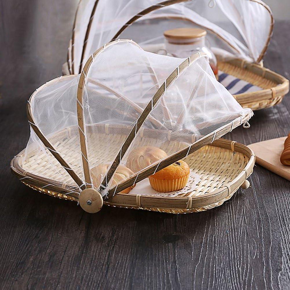 cesta del pan Canasta rectangular hecha a mano de la cesta de la tienda de alimentos de la porci/ón que sirve cesta de la comida de la cesta de la fruta de la cubierta con gasa