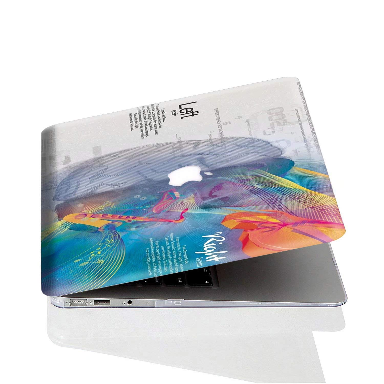 AQYLQ Custodia MacBook PRO 13 MacBook PRO 13.3 Plastica Cover Rigida Duro Caso Copertina Cover per Apple MacBook 13.3 Pollici Modello Cervello Musicale A1278