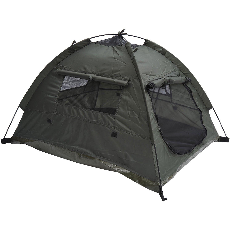 Pawhut Outdoor Camp Pop Up Pet Dog Camping Tent, 33 x 28