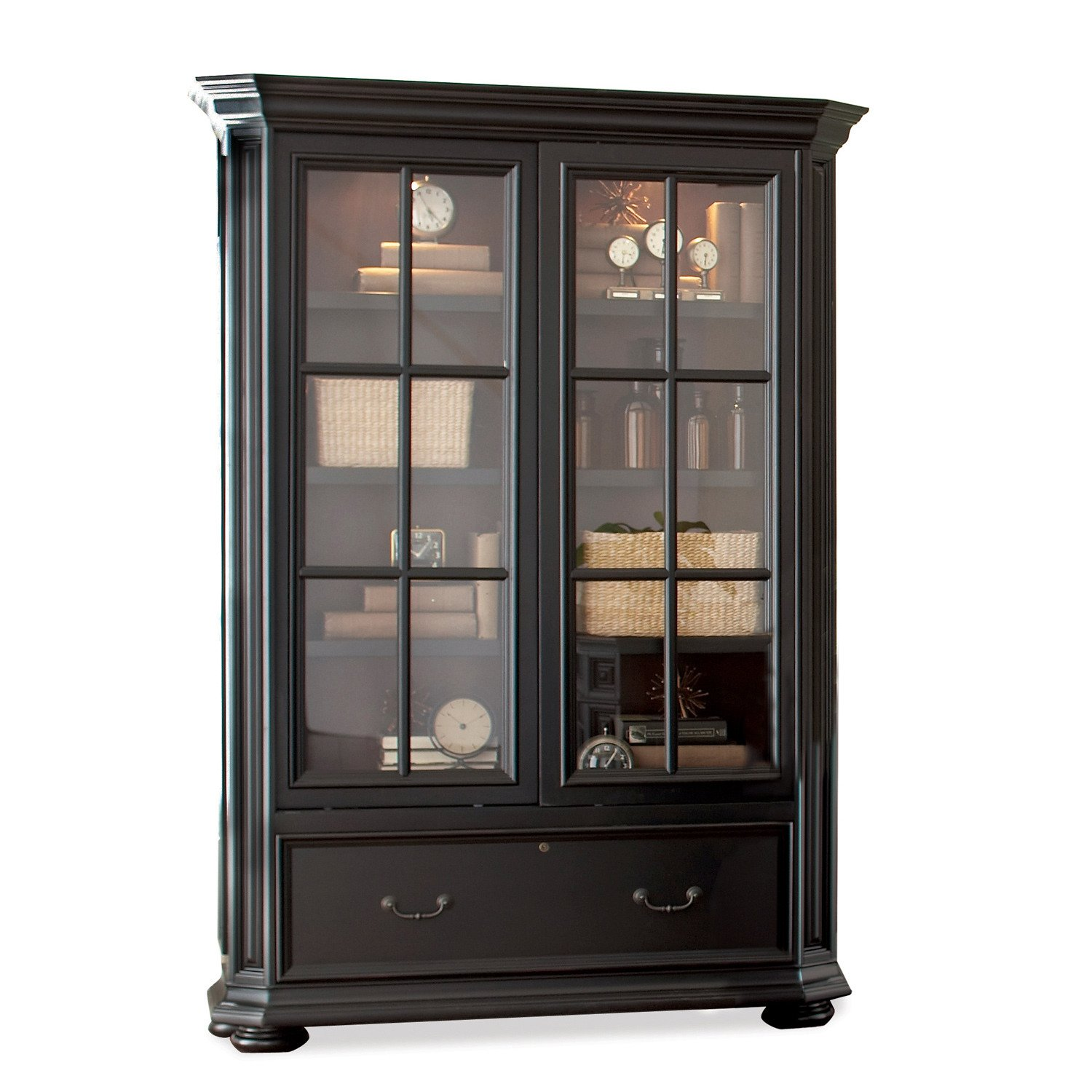 Amazon: Allegro Sliding Door Bookcase Cabinet: Kitchen & Dining