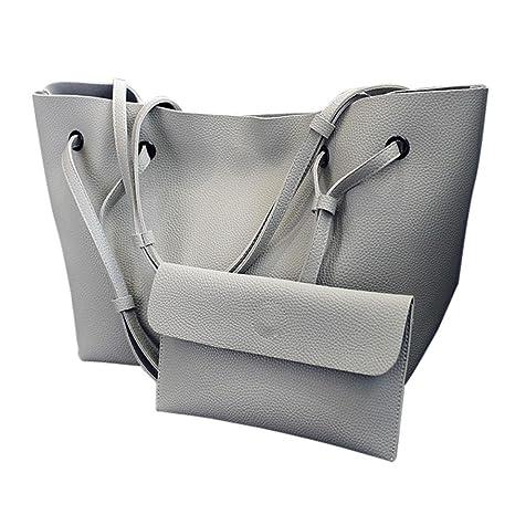 Set de 2PCS Bolso de Hombro Mujer Bolsos Bandolera Grande de Piel Barato  para Niña por 5dd00ad5f942