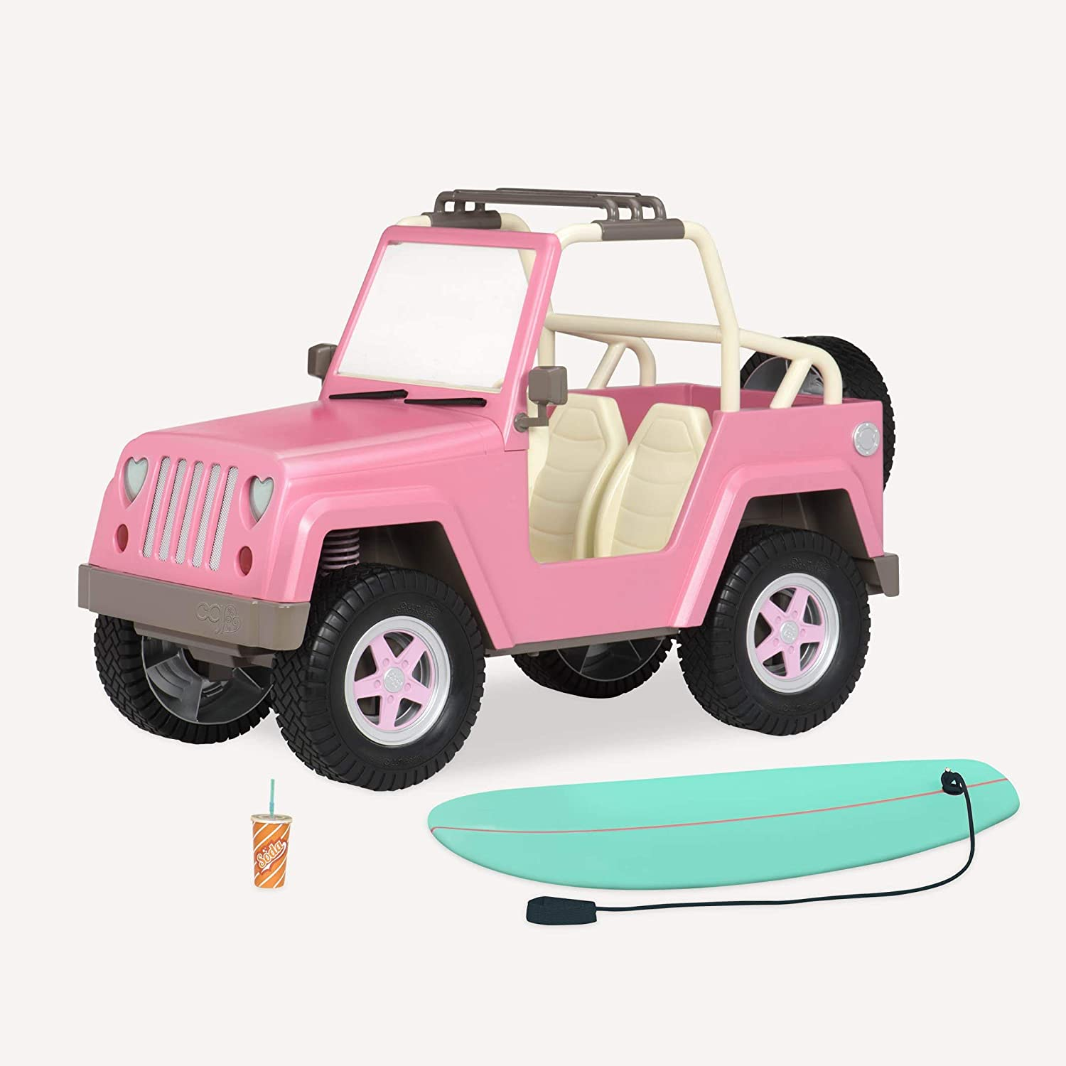 """Our Generation by Battat- Og Off Roader 4x4 Electronic Jeep for 18"""" Dolls- Toys, Clothes & Accessories for Girls 3-Year-Old"""