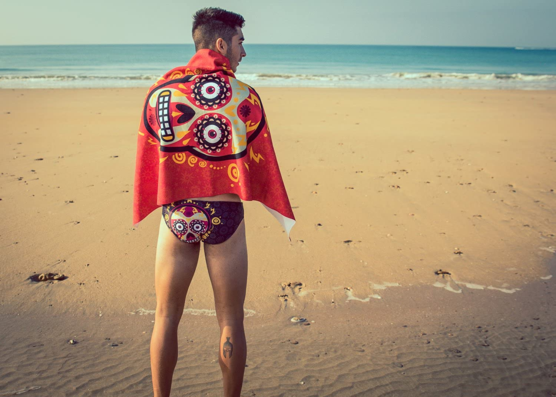 NONBAK Ba/ñador Man Mexico Yucatan Red Natacion Triatlon Waterpolo Traje de ba/ño Swimwear Swimsuit