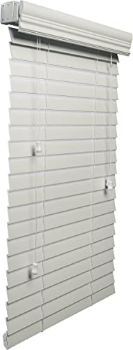 Lotus Windoware 2-Inch Faux Wood Blind, 59 by 36-Inch, White