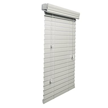 Lotus & Windoware 2-Inch Faux Wood Blind, 27 by 36-Inch, White