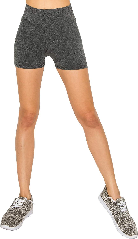 EttelLut Cotton Active Running Bike Leggings-Athletic Exercise Yoga Walking 7//3 Shorts