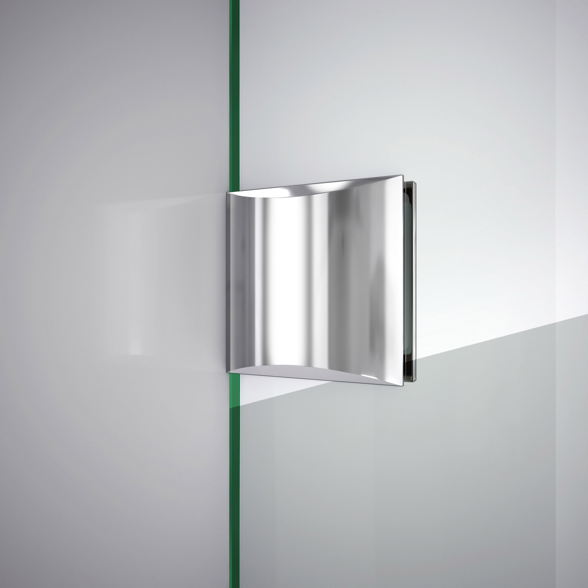 DreamLine Unidoor Lux 56 in. Width, Frameless Hinged Shower Door, 3/8'' Glass, Chrome Finish by DreamLine (Image #7)