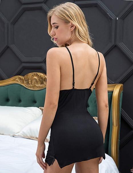 e1c8eabe1 Amazon.com  Avidlove Women Chemises Lingerie Mini Babydoll Sleepwear  Strappy lace Dress  Clothing